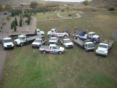 variety of towing trucks representing Auto Spa Towing Ltd.
