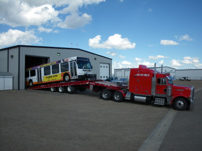Bus recovery representing Auto Spa Towing Ltd.