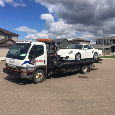 porsche towed representing Auto Spa Towing Ltd.